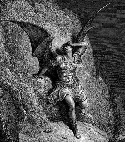 Satan, illustration for Paradise Lost, 1866