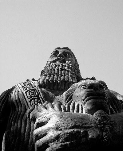 Statue of Gilgamesh at Sydney University